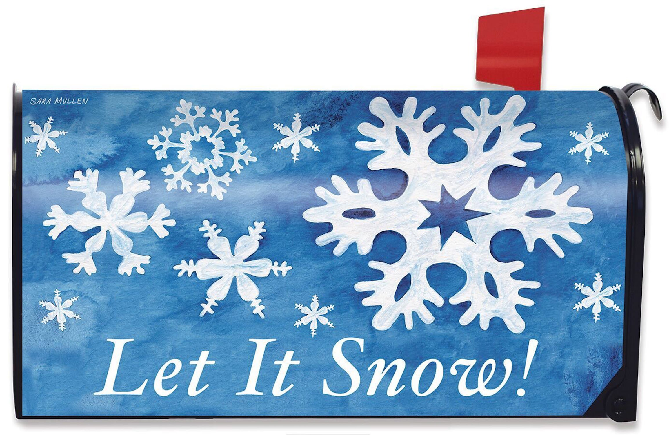 Briarwood Lane Let it Snow! Winter Magnetic Mailbox Cover Snowflakes Standard