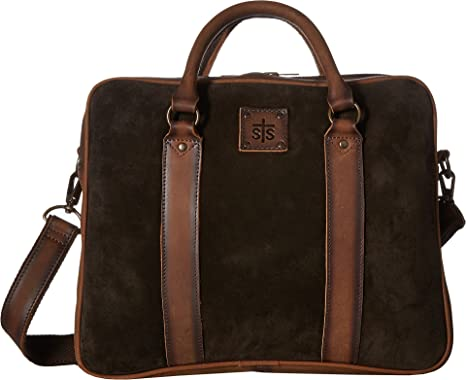 ced5784f4f STS Ranchwear Unisex Heritage Satchel Briefcase Chocolate Suede Tornado  Brown One Size
