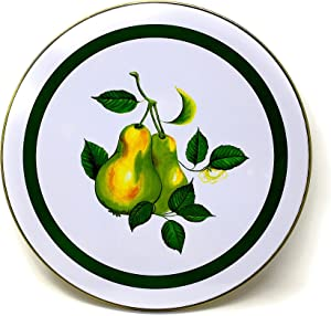 Electric Stove Burner Range Covers Decorative Set of 4 (Pears)