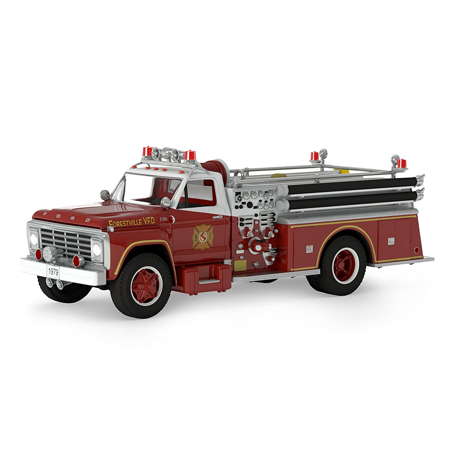 2017 Hallmark Keepsake Fire Truck Dated Christmas Ornament With Light