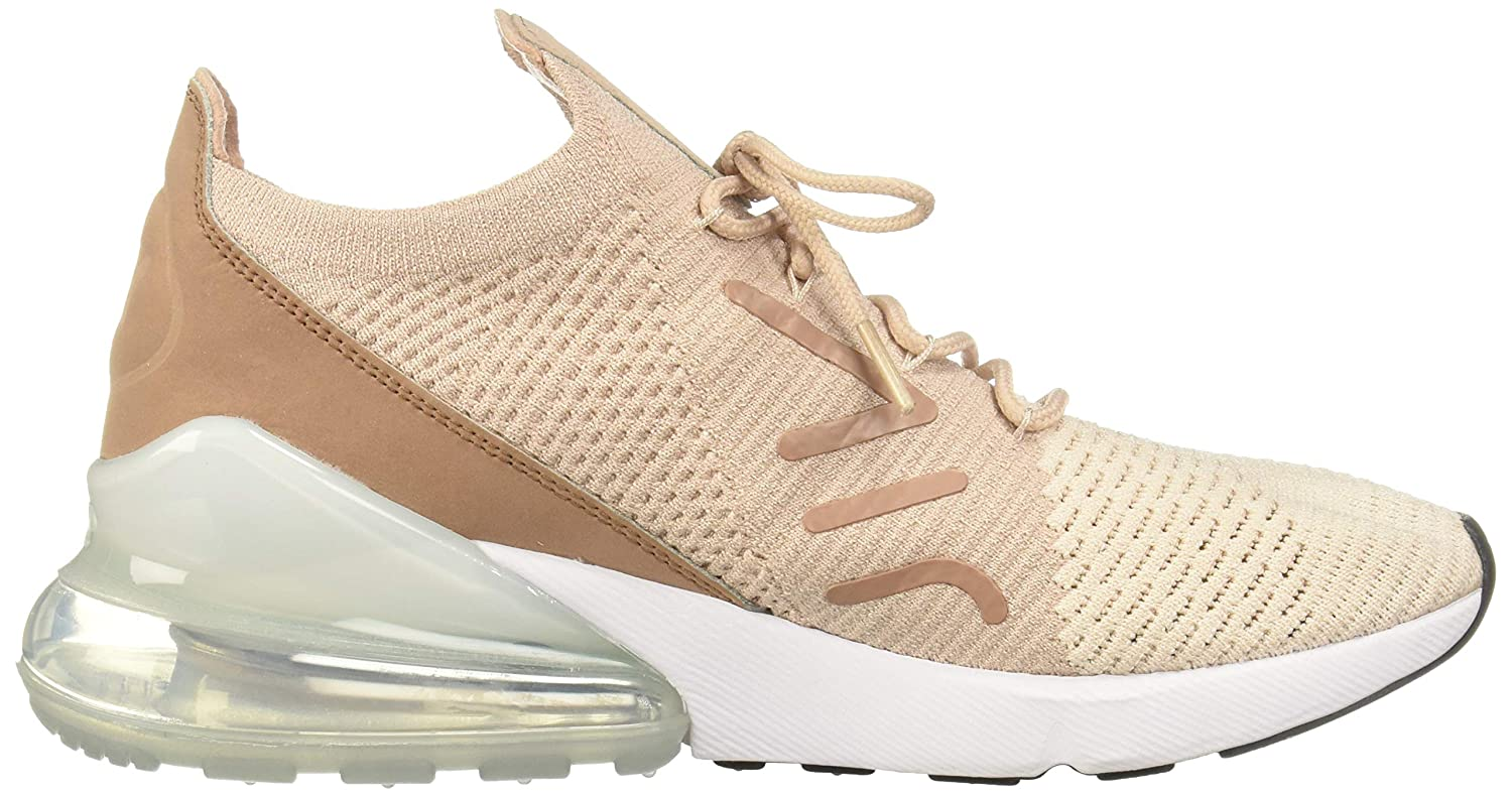Nike Women's WMNS Air Max 270 Flyknit, Guava ICEParticle Beige, 8.5 US