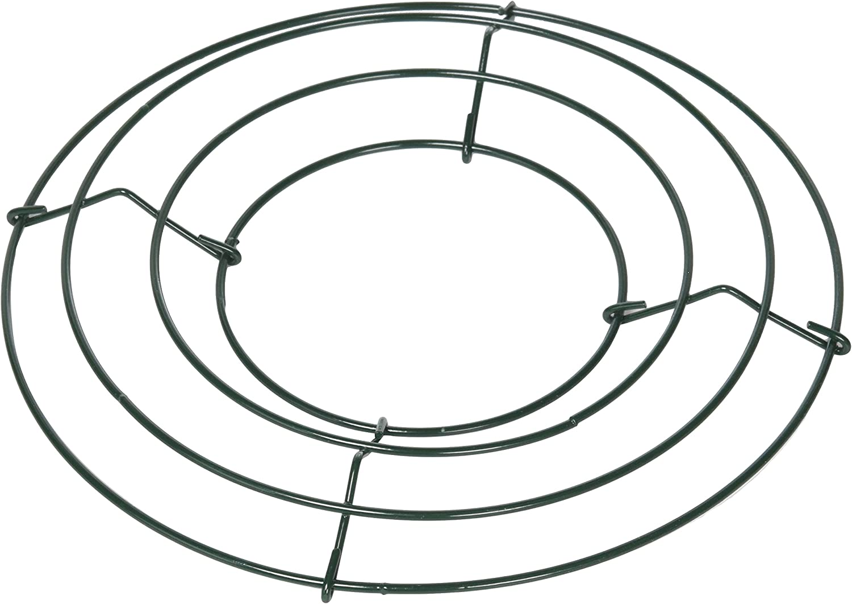 "Green Wire Wreath Form 8/"" Diameter 3 count"