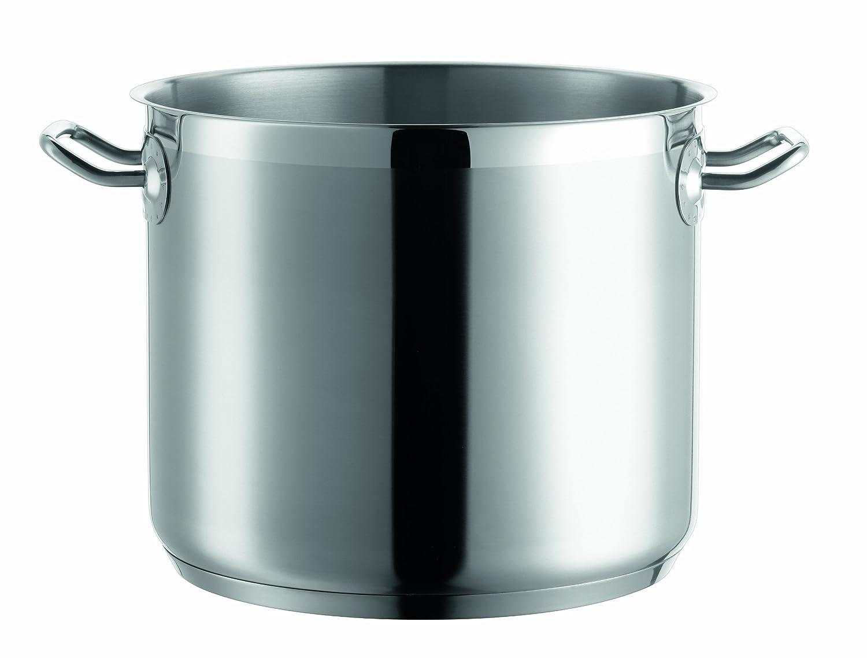 Domestic Professional by Mäser - Vegetable Pot - 24 cm - 18/10 Stainless Steel - Suitable for Induction Hobs - Litre Measurement Markings Josef Mäser GmbH 811023