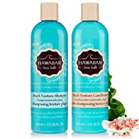 HASK HAWAIIAN SEA SALT Shampoo and Conditioner Set Texturizing - Color safe, gluten-free, sulfate-free, paraben-free - 1 Shampoo and 1 Conditioner