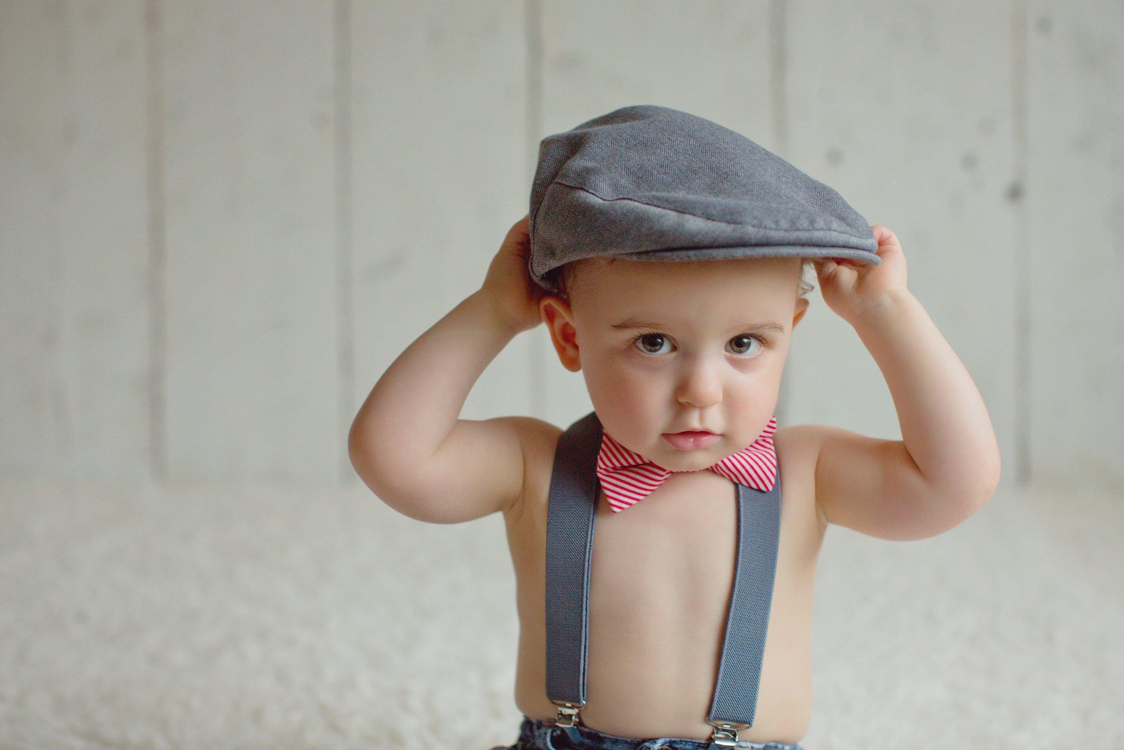 born to love baby boy s hat grey herringbone driver page boy cap
