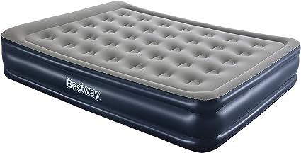 Bestway 67600 colchón Hinchable Colchón Doble Azul, Gris Niño/niña - Colchones hinchables (Colchón Doble, Azul, Gris, Vinilo, Adultos, Tamaño Queen ...
