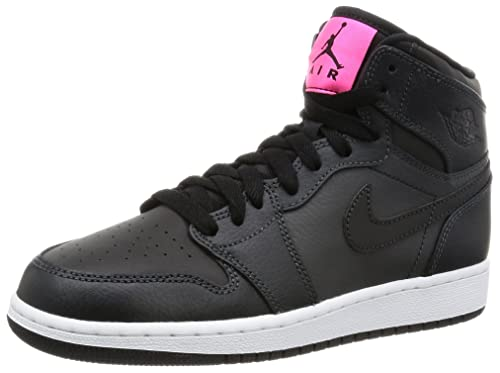 Jordan Nike Kids Air 1 Retro High Gg AnthraciteBlack Black Basketball Shoe 4 Kids US
