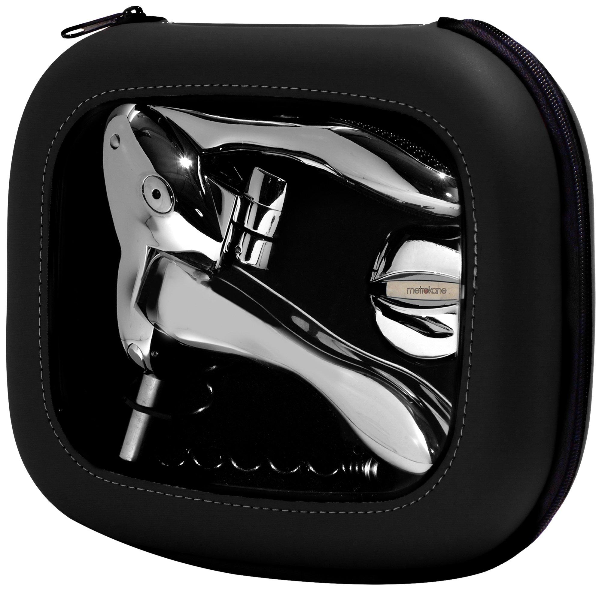 Rabbit Zippity Polished Sterling Corkscrew in EVA Storage Case (Black)