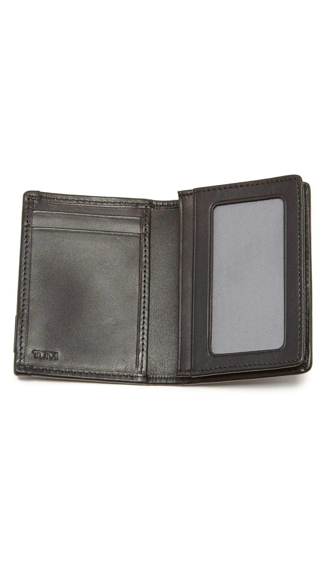Tumi Alpha Gusseted Card Case with ID,Black,one size by Tumi (Image #4)