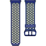 Fitbit Ionic Accessory Sport Band, Blue/Yellow, Large