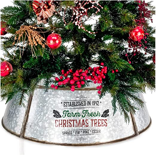 "Authentic Easy Set Up 30/"" Tree Collar For Xmas Farmhouse Christmas Tree Collar"