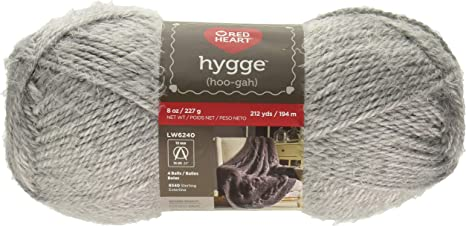 3 Pack Red Heart Yarn Hygge 8oz-Pearl