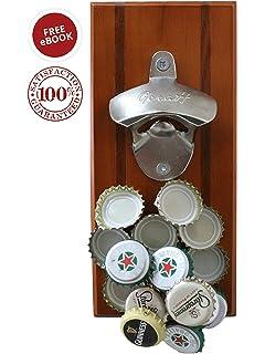 beverage bottle opener with bottle cap catcher for nomess - Magnetic Bottle Opener