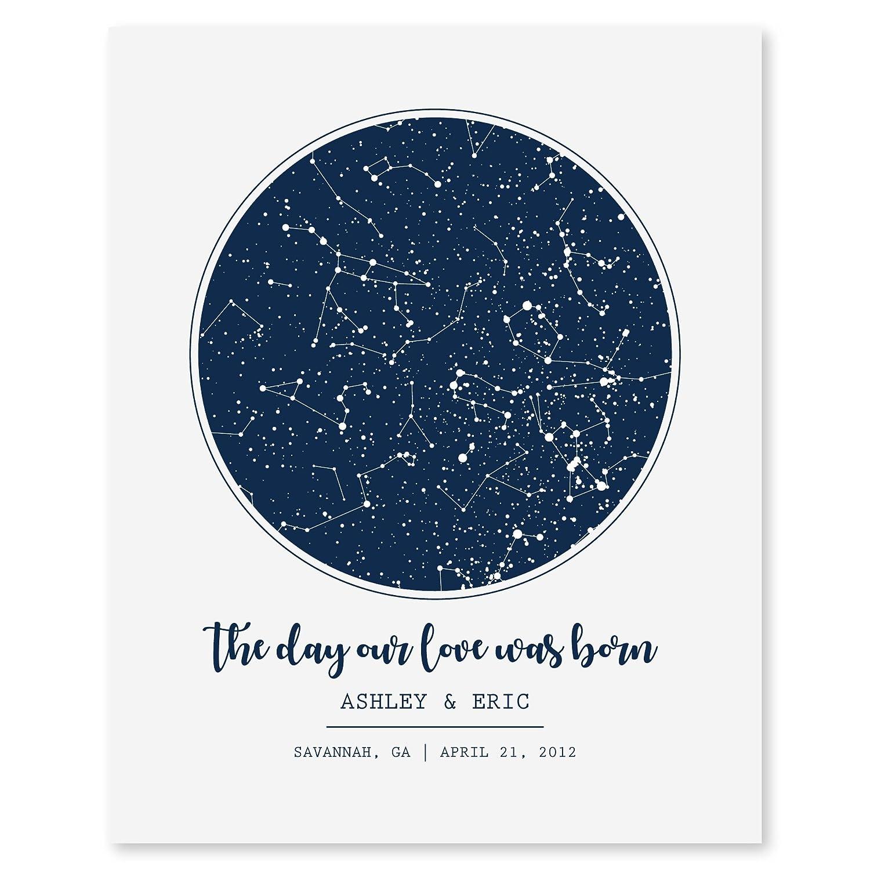 128ffc169b684 SmoothToast Personalized Night Sky Star Map Art, 8