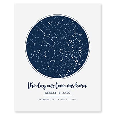 SmoothToast Personalized Night Sky Star Map Art