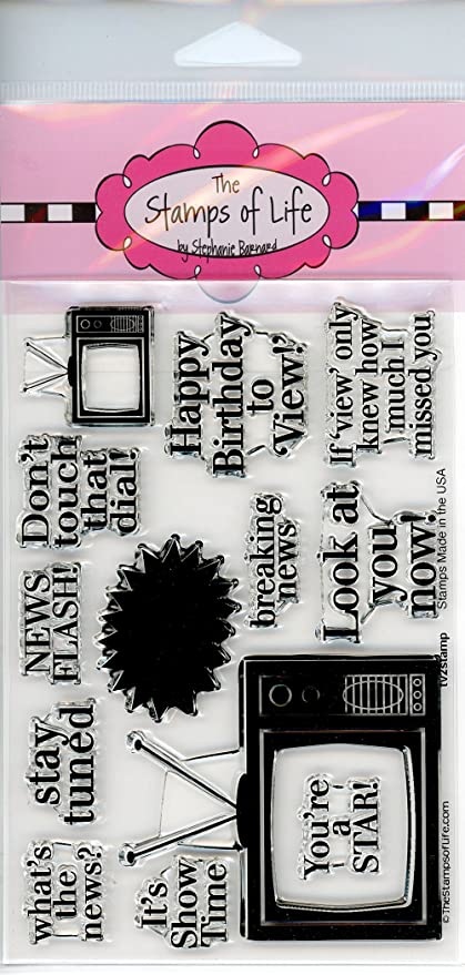 Cute Television Stamps For Card Making And Scrapbooking By The Stamps Of Life Tv2stamp Sentiments