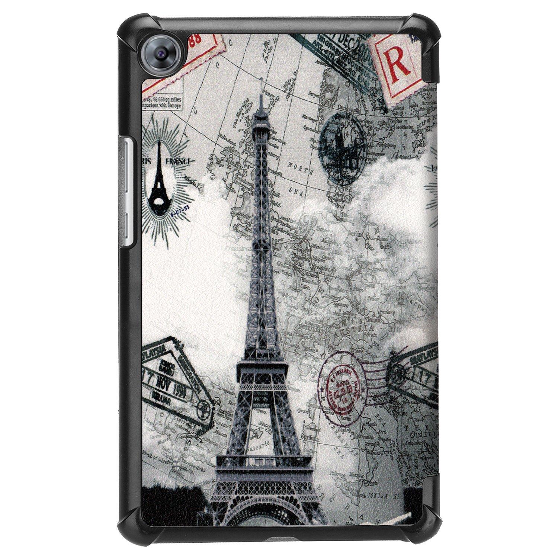 Lobwerk Coque pour Huawei MediaPad M5/8.4/Pouces Tablette Coque Smart Cover avec Auto Sleep//Wake Fonction Support et Stylet C5