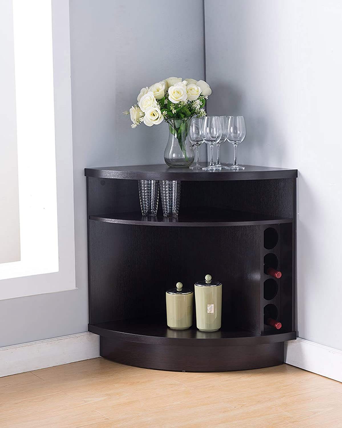 161722 Smart Home Corner Wine Cabinet Buffet Table