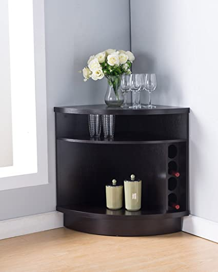 amazon com 161722 smart home corner wine cabinet buffet table rh amazon com Furniture Buffets and Sideboards International Buffet