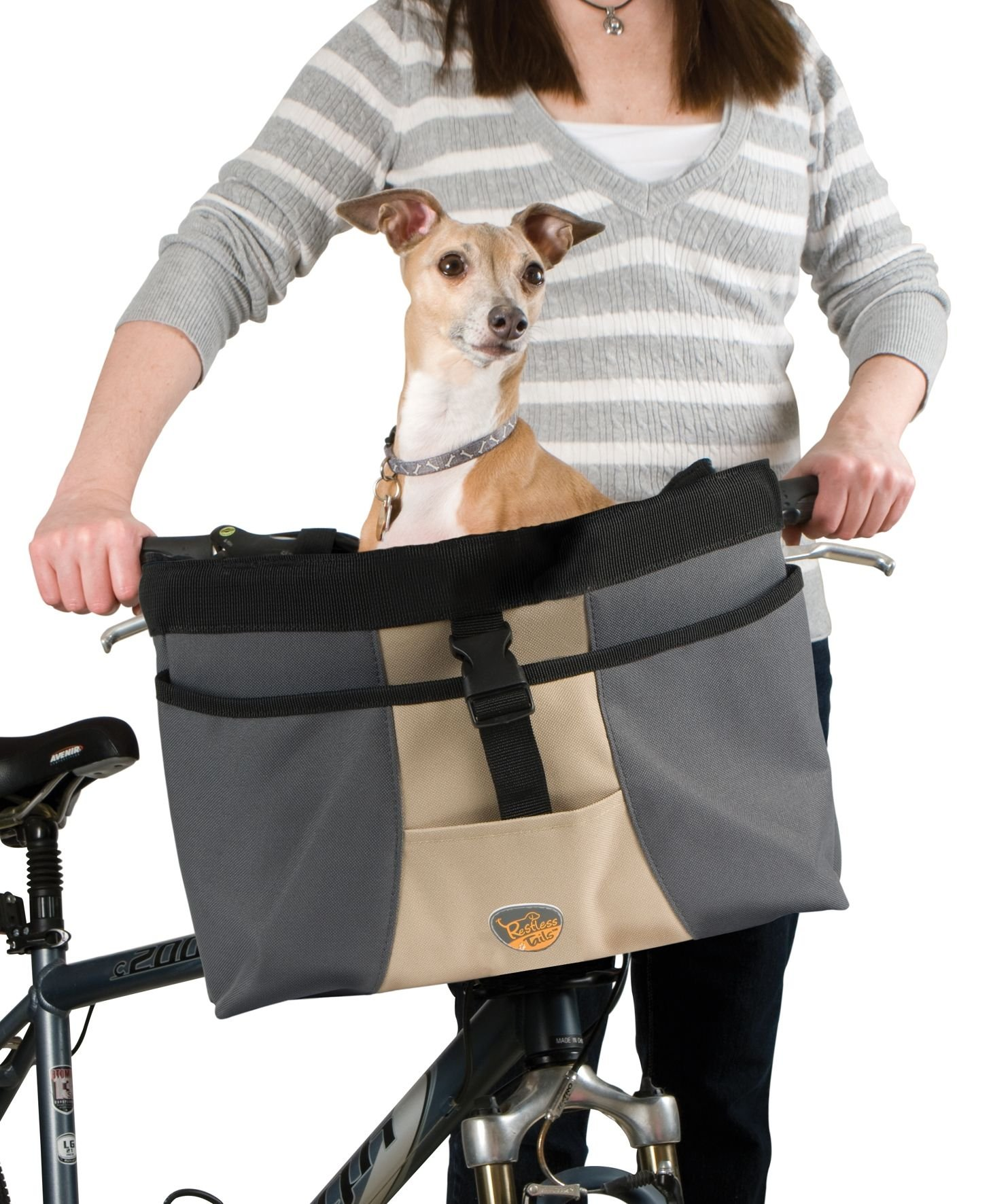 Restless Tails Front Bicycle Basket/Carrier for Pets by Restless Tails