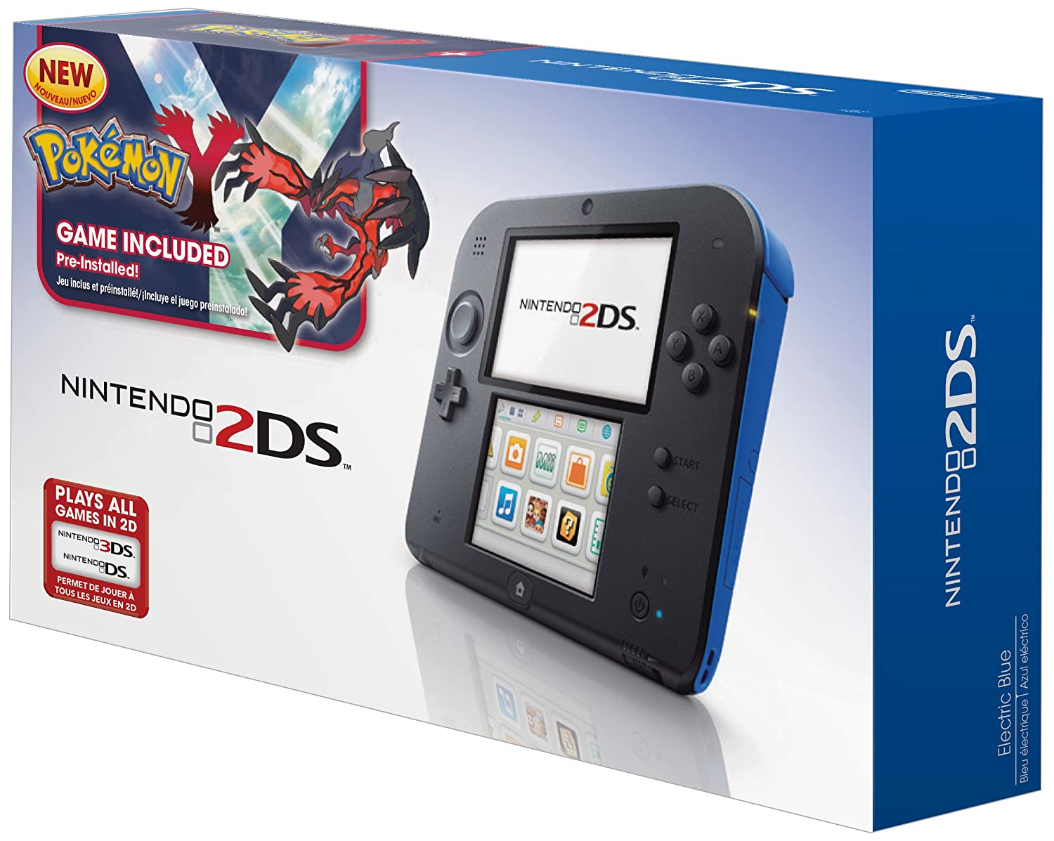 Amazon Com Nintendo 2ds Handheld Gaming System With Pokemon Y Blue