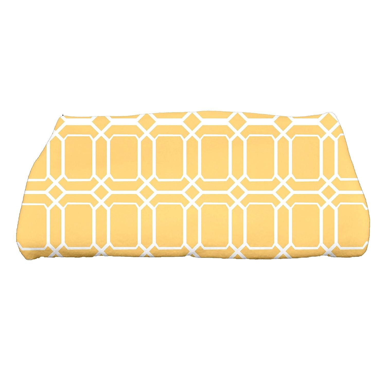 Ebydesign O The FunGeometric Print Bath Towel, 28 x 58, Yellow