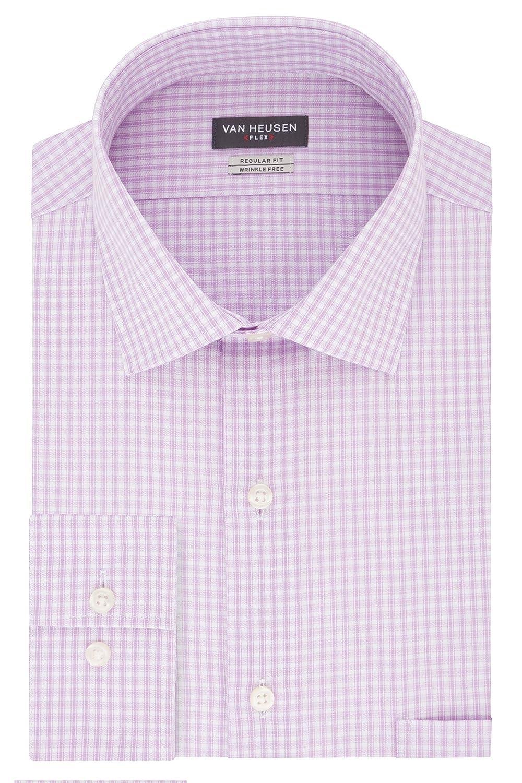 Soft violetc 39 cm Cou 81 cm- 84 cm Manche Van Heusen Homme Manches Longues Chemise habillée