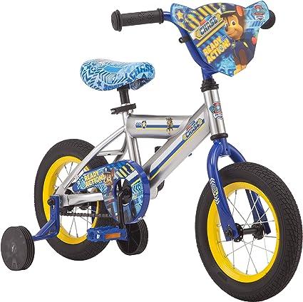 Nickelodeon Patrulla Canina Bicicleta para niños, con perseguir en un Marco de Acero Plateado, Incluye Ruedas de Entrenamiento, Ruedas de 12 Pulgadas: Amazon.es ...