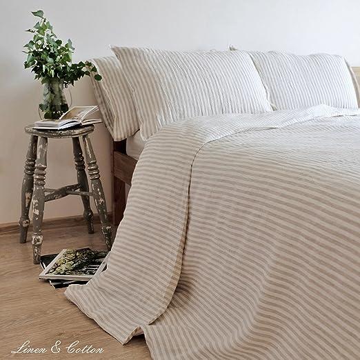 1 opinioni per Linen & Cotton Set Copripiumino/ Biancheria da Letto in Lino Lavato