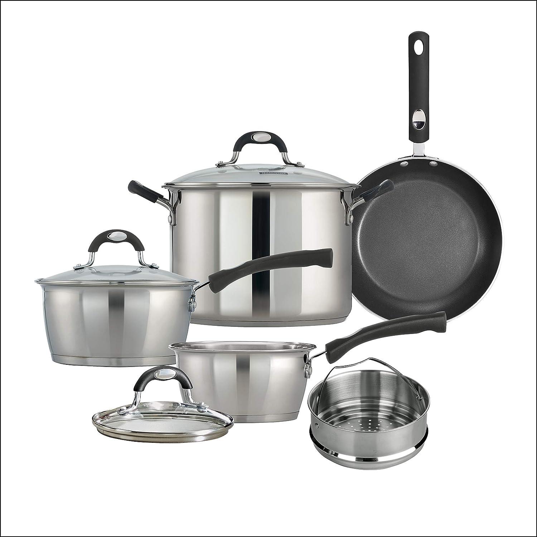 Amazon Com Tramontina 8 Pc Kitchen Essentials Cookware Set Kitchen Dining