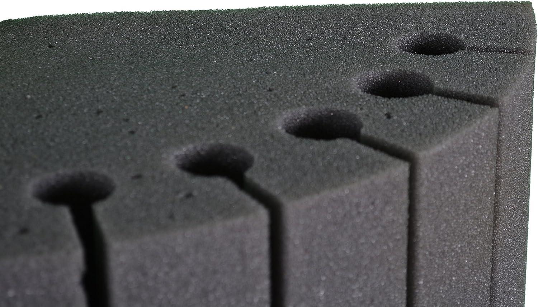 Paquete de 4 Bass Traps cil/índrico H100 D25 Correcci/ón ac/ústica