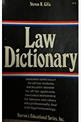 Law Dictionary Paperback