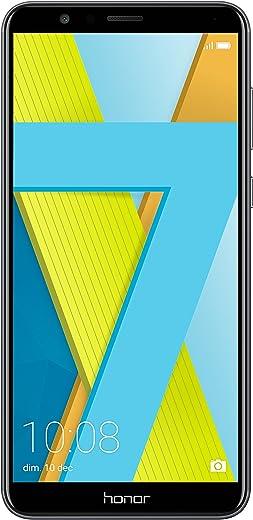 Honor 7X Smartphone, 4 G, Dual SIM, Memoria Interna da 64 GB, Android, 7.0 + EMUI 5.1, Grigio