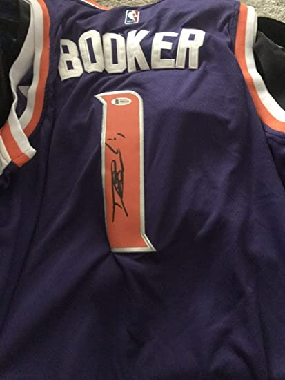 separation shoes 38aa5 d4ba0 Devin Booker Autographed Signed Stitched Jersey Bas Beckett ...