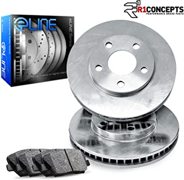 Front Drilled Slotted Brake Rotors /& Ceramic Pads For 2017 2018 Hyundai Elantra