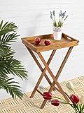 Klapptisch mit abnehmbaren Tablett Gartentisch Tisch Gartenmöbel balkontisch