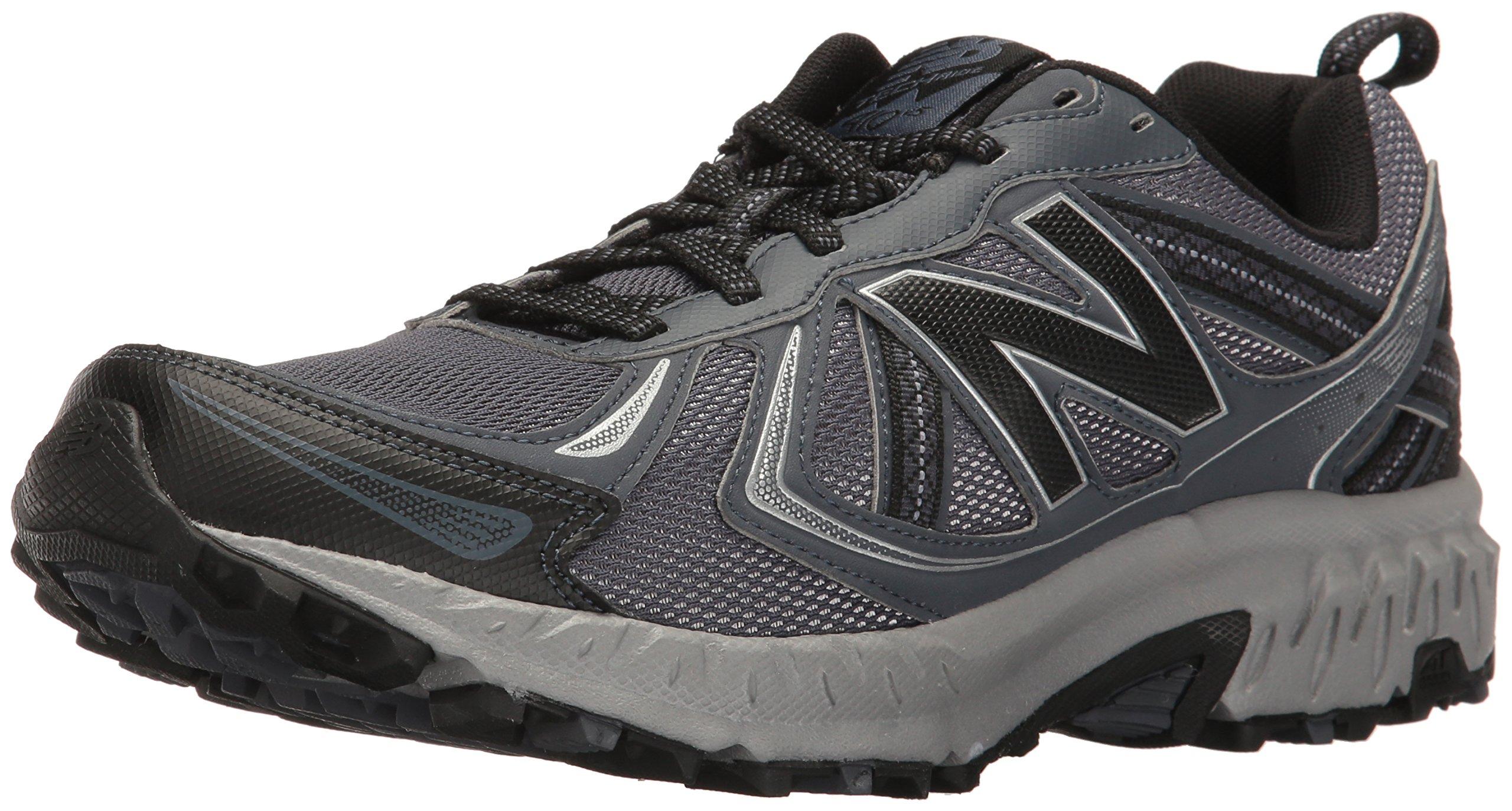 New Balance Men's MT410v5 Cushioning Trail Running Shoe, Dark Grey, 11 D US