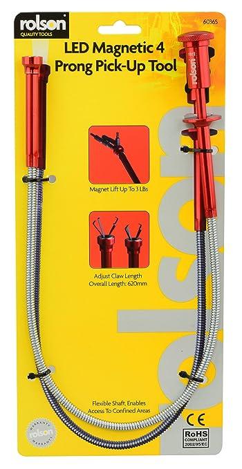 31 opinioni per Rolson- Asta magnetica prenditutto, flessibile, con luce a LED e artiglio