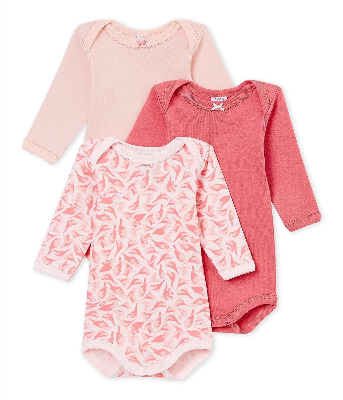 Petit Bateau Baby-Mädchen Formender Body, 3er Pack 4371900