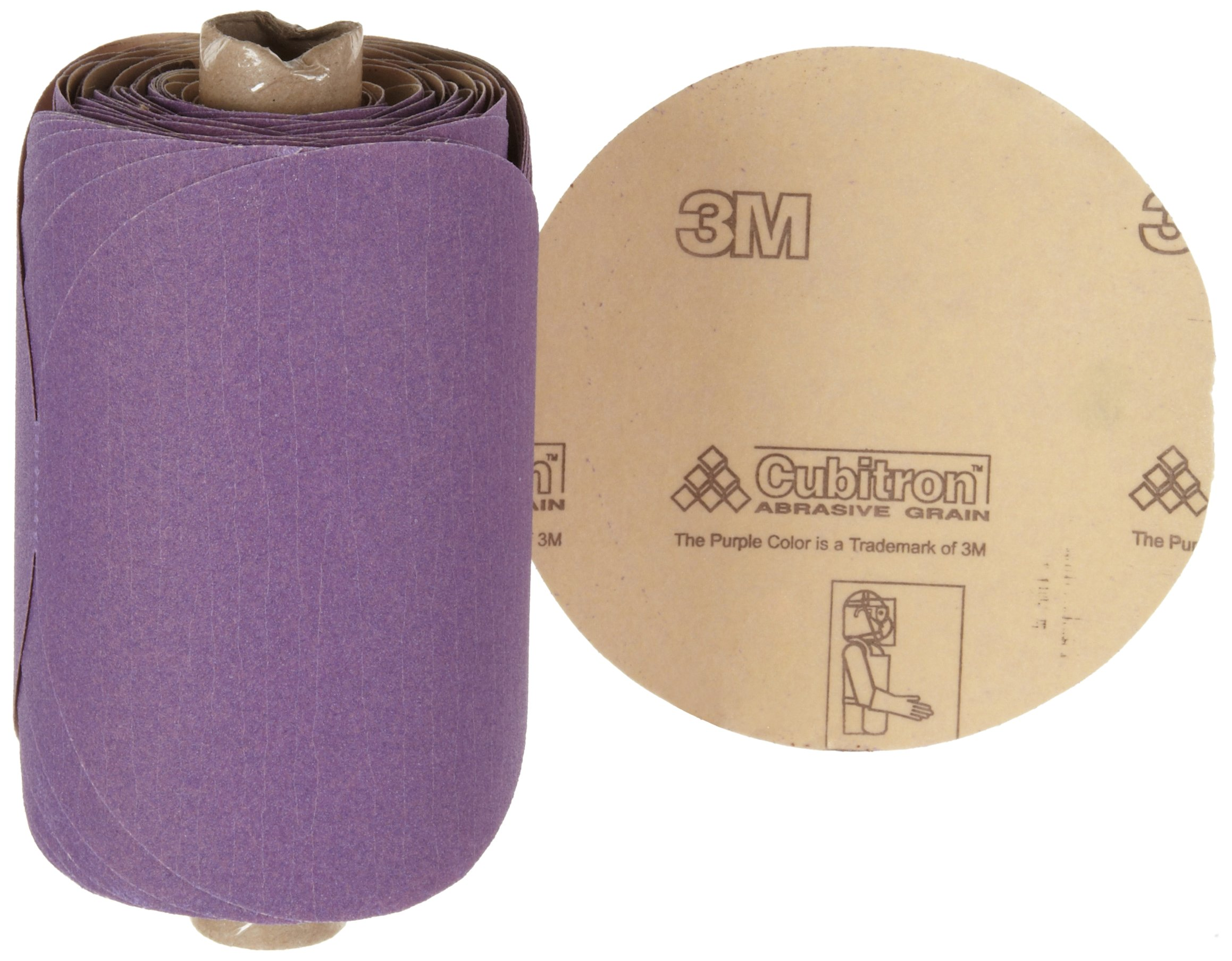 3M Stikit Paper Disc Roll 735U, PSA Attachment, Ceramic Aluminum Oxide, 5'' Diameter, P150 Grit (Roll of 100)