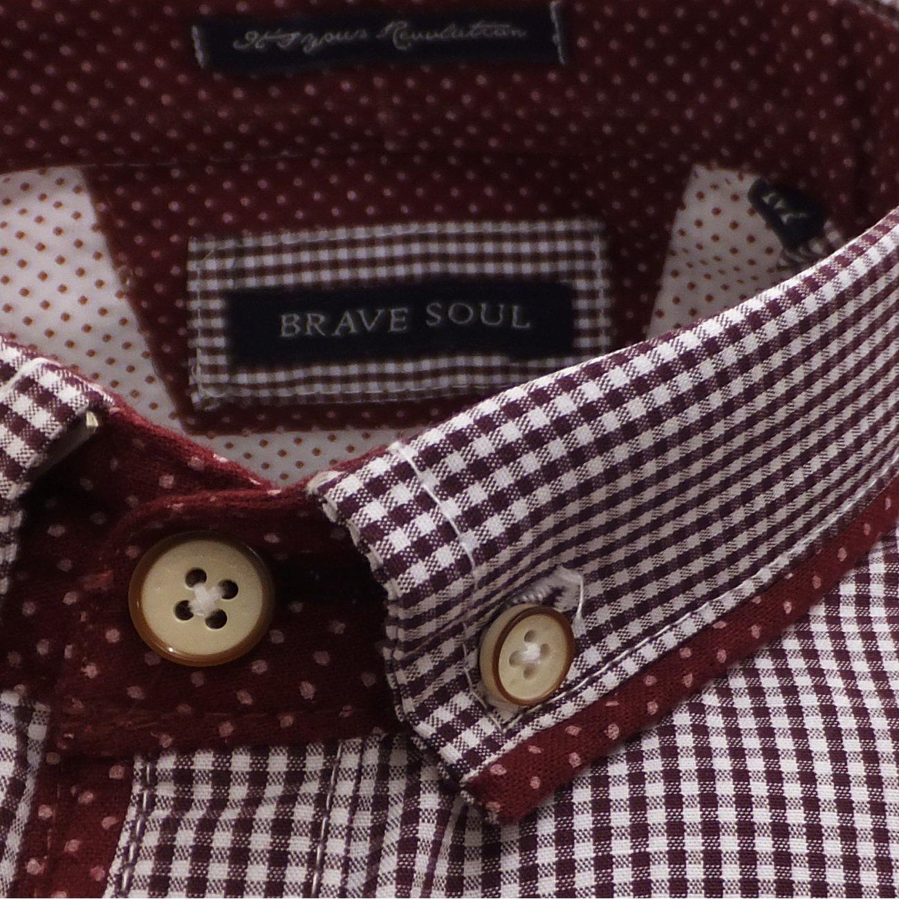 ce6c10fbc1 Para hombre patrones de costura para camisas Brave Gingham Check Soul  camiseta de manga corta S M L y XL  Amazon.es  Ropa y accesorios