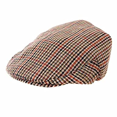 Hawkins Men s Classic Tweed Flat Cap  Amazon.co.uk  Clothing 8a0b85a98cf4