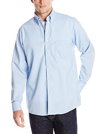 1e987119 Red Kap Men's Easy Care Dress Shirt, Light Blue, Medium 323 inch sleeve