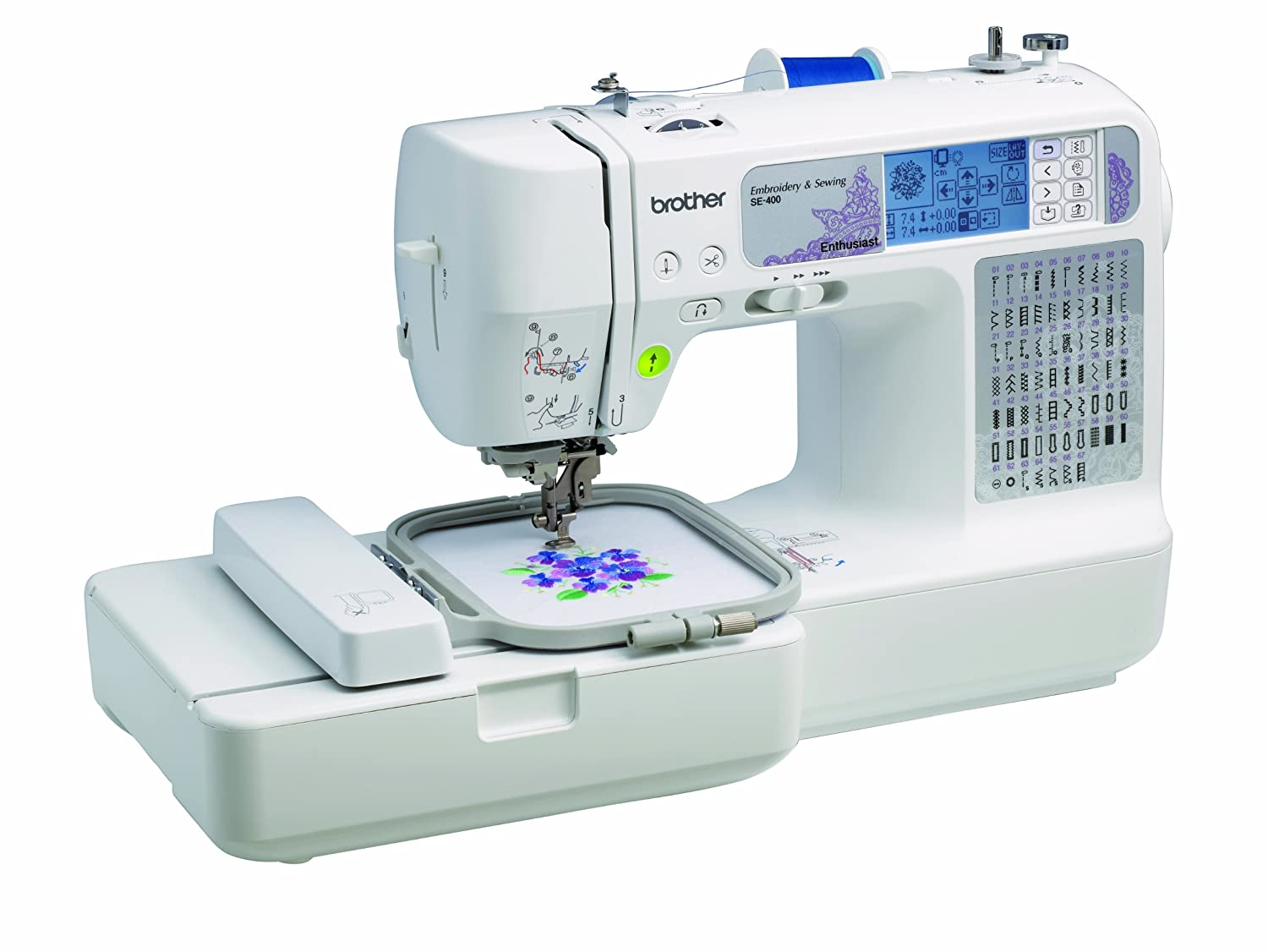 Sibling SE400 Combination Computerized Sewing Plus 4X4 Embroidery Machine Along With 67 Built-in Stitching