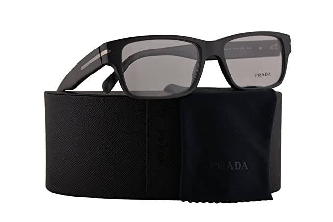 ac3abe9dc01 Amazon.com  Prada PR22RV Eyeglasses 54-16-145 Matte Brushed Grey w Demo  Clear Lens TV41O1 VPR 22R PR 22RV VPR22R  Clothing