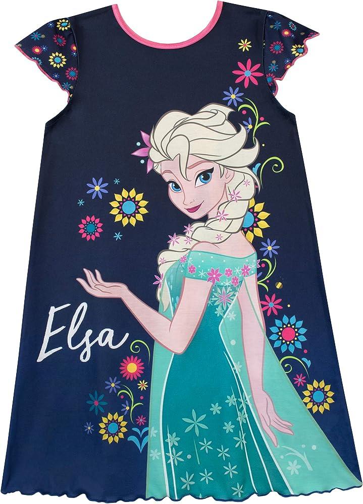 Disney Frozen Elsa Girls Nightie Nightwear Pyjama Night Dress 100/% Cotton