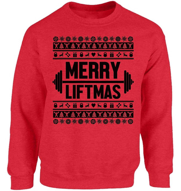 Vizor Merry Liftmas Christmas Sweatshirt for Men and Women Ugly ...