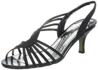 Easy Street Women's Perris Sandal,Black Glitter,7.5 ...