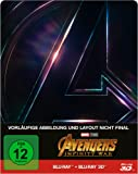 Avengers: Infinity War Steelbook - 3D + 2D + Bonusdisc [3D Blu-ray] [Limited Edition]