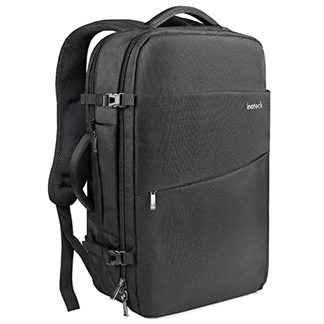 Inateck Travel Carry-On Luggage Backpack 30L, Flight Approved Business Anti-Theft Weekender Rucksack Bag, Fit 15.4 Laptop for Men and Women - Black
